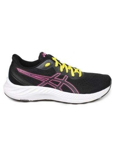 Asics Asics 1012A916-006 Siyah-Pembe Kadın Koşu Ayakkabısı Siyah